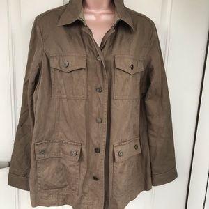Liz Claiborne olive green utility jacket